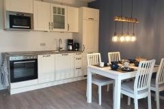 Küche und Essbereich Seestern und Muschel