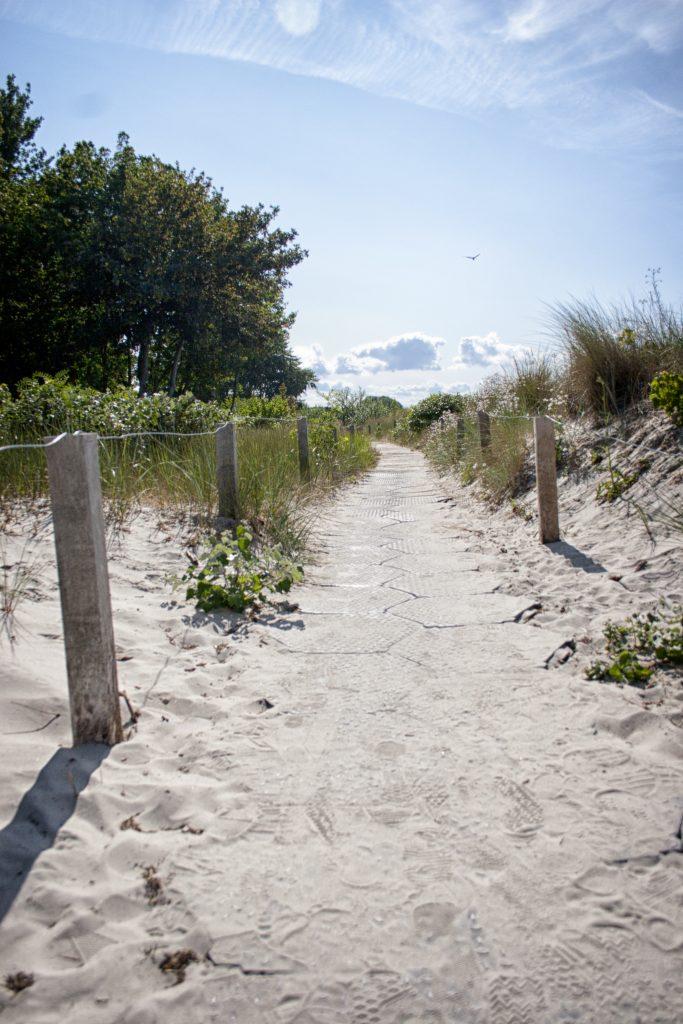 Weg hinter den Dünen